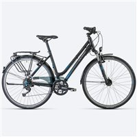 Cube Touring Ladies Hybrid Bike Black/ Grey/ Blue - 2013