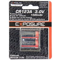 EXPOSURE CR123A Lithium Single Use Batteries - Fits Spark/ Flash & Flare