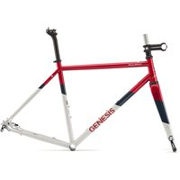 Genesis Equilibrium 725 Disc Steel Frame & Fork - Red / White