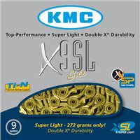 KMC X9SL 9 Speed Titanium Nitride Plated Chain