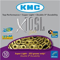 KMC X10 SL 10 Speed Titanium Nitride Gold Chain by KMC