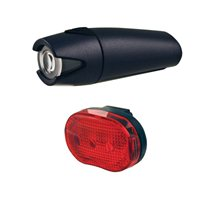 Smart 4 Lux Front with 3 LED Rear light Black