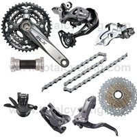 Shimano SLX M660 Groupset With Hydraulic Disc Brakes - 10 Speed Triple