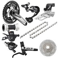 Shimano Shimano SLX M670 Groupset With Hydraulic Disc Brakes - 10 Speed Triple