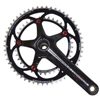 Campagnolo Centaur Power Torque Carbon 10 Speed Crankset - Black/Red
