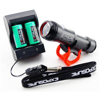 Spark MK4 Front Light & Recharger Pack - 255 Lumen by EXPOSURE