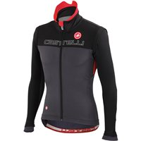 Castelli Poggio Black/Anthracite/Red Cold Weather Jacket