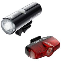 Cateye Volt 200 Front And Rapid Mini Rear Light Set