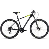 Cube Aim Pro Hardtail Black & Flash Yellow - 2018