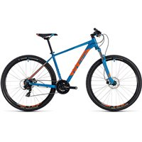 Cube Aim Pro Hardtail Blue & Orange - 2018