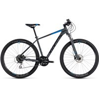 Cube Aim Race Hardtail Grey & Blue - 2018