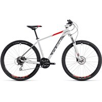 Cube Aim Race Hardtail White & Red - 2018