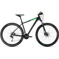 Cube Aim SL Hardtail Black & Flash Green - 2018