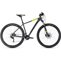 Cube Attention SL Hardtail Grey & Flash Yellow - 2018