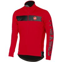 Castelli Raddoppia Reflective Jacket - Red & Black