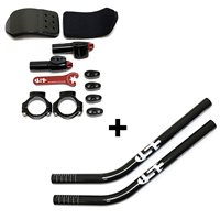 USE TR2 Clip On Aero Bars With Carbon Extensions