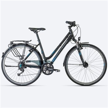 Cube Touring Hybrid Bike Black/ Grey/ Blue  - Click to view a larger image