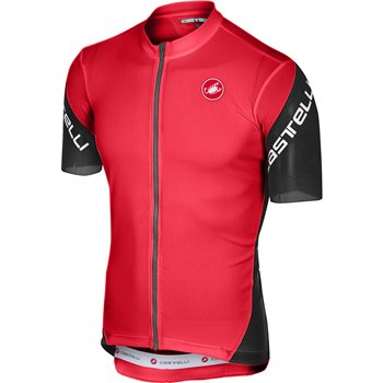 Castelli Entrata 3 Cycling Jersey - Red  - Click to view a larger image
