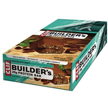 Clif Bar Builder's Chocolate Protein Bar - 12x 50g Box  - Click to view a larger image