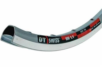 DT Swiss RR1.1 Road Rim - Single Eyelet Silver  - Click to view a larger image