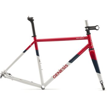 Genesis Equilibrium 725 Disc Steel Frame & Fork - Red / White - 2018  - Click to view a larger image