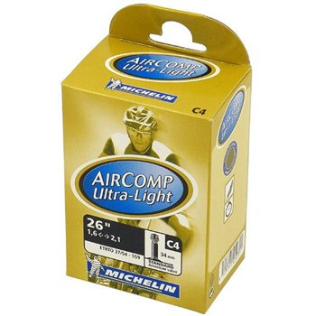 Michelin Aircomp Ultra-Light 26 Inch MTB Tube - 34mm Schraeder valve  - Click to view a larger image