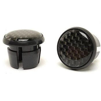 MPart Carbon Fibre Bar End Plugs for Road Bikes  - Click to view a larger image