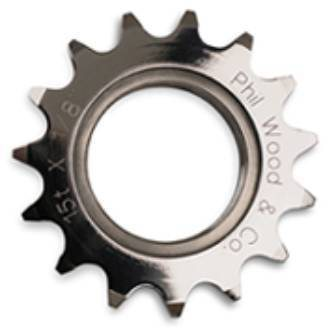 Phil Wood Stainless Steel Track Sprocket - 1/8