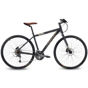 Ridgeback Dual Track X2.3 Trail/ Commuting Bike - Matte Black  - Click to view a larger image