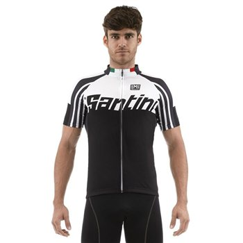 Santini Zest Full Zip Short Sleeve Cycling Jersey  - Click to view a larger image