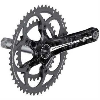 Campagnolo Athena Carbon 34/50 11sp Power-Torque Crankset  - Click to view a larger image