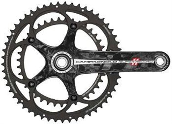 Campagnolo Super Record 11sp 39/53T Crankset - With Steel Axle  - Click to view a larger image