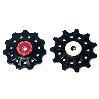 Campagnolo 11 speed Ceramic Bearing Derailleur Pulleys - SR500  - Click to view a larger image