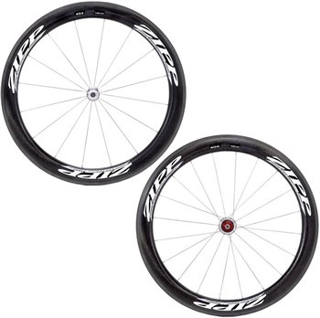 Zipp 404 Firecrest Tubular Wheelset - Silver Hub  - Click to view a larger image