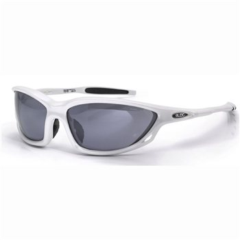 Bloc Predator X315 Sunglasses - Shiny White Frame & Smoke Lens  - Click to view a larger image