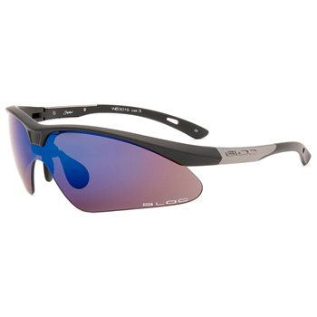 Bloc Shadow WB301  Sunglasses - Black With Mirror Blue Lens  - Click to view a larger image