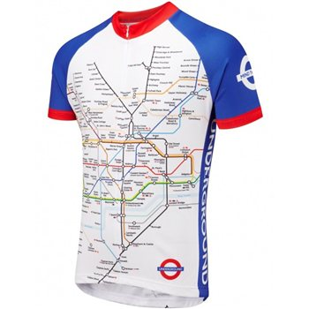 Foska London Underground Cycle Jersey  - Click to view a larger image
