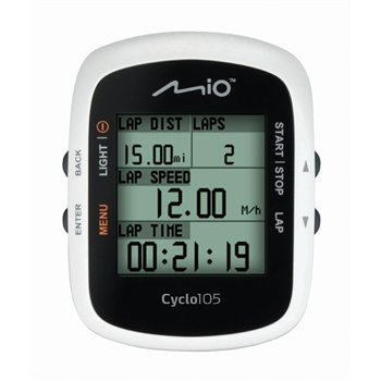 Mio Cyclo 105HC ANT+ Bicycle Computer with HRM & Cadence  - Click to view a larger image