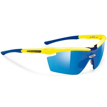 Rudy Project Genetyk Glasses - Yellow Fluo With Blue MultilaserLenses  - Click to view a larger image