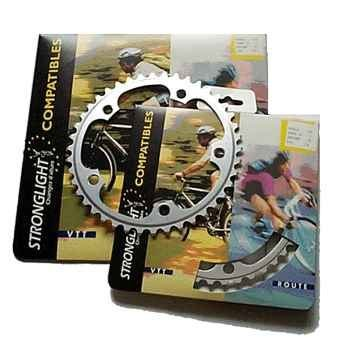 Stronglight 110PCD 5083 Series 5-Arm Road Silver Chainrings - outer