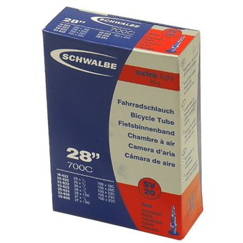 Schwalbe SV20 Extra Light Inner Tube - 700x18-25 Short Valve  - Click to view a larger image