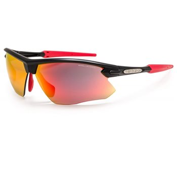 Bloc Fox XR761 - Matt Black With Red Tips & Red Mirror Lens  - Click to view a larger image
