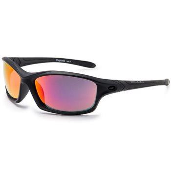 Bloc Daytona XMPR60 Sunglasses - Matt Black Red Mirror Polarised  - Click to view a larger image