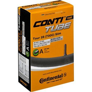 Continental Tour 28 slim tube 700 x 28 - 32C Schrader valve Inner Tube  - Click to view a larger image