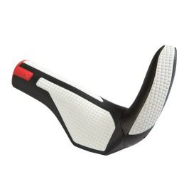 Cube Natural Fit Comfort Grips With Bar Ends - Black/White/Red