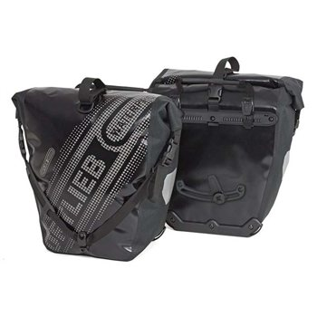 Ortlieb Back Roller Black n White 40L Waterproof Pannier Pair With QL2.1 Mounting System  - Click to view a larger image