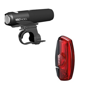 Cateye Volt 400 & Rapid X2 USB Rechargeable Light Set -   - Click to view a larger image