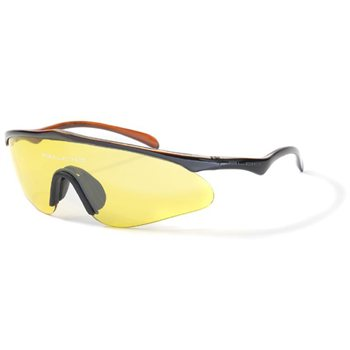 Bloc Stealth W040 Sunglasses - Shiny Black/Orange Frame with Citrus Lens  - Click to view a larger image