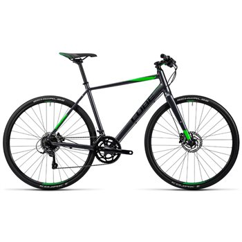 Cube SL Road Pro - Grey Black Flash Green - 2016  - Click to view a larger image