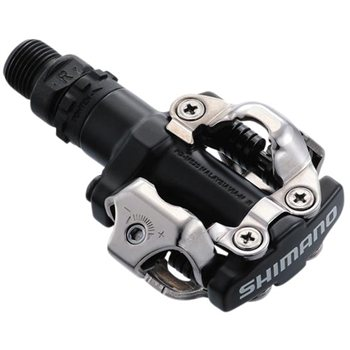 Shimano PD-M520 MTB SPD pedals - Two Sided Mechanism - Black  - Click to view a larger image
